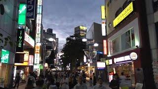 東京・八王子市 JR八王子駅近くの繁華街を散策 state of the city center of Hachioji city, Tokyo