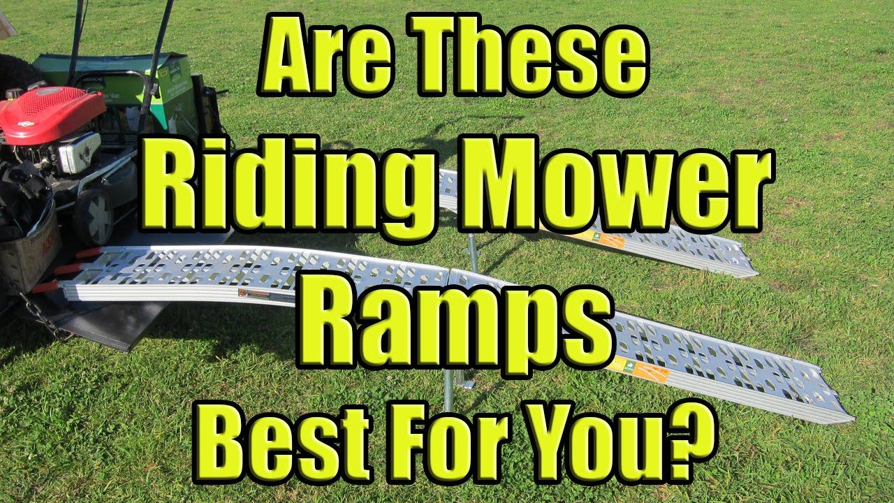Aluminum Folding Ramps >> Folding Lawn Mower Loading Ramps (9 Foot Aluminum Ramps for a Riding Mower) - YouTube