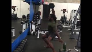 Pro MMA Fighter Sultan Umar 110 lbs One Arm Snatch - 3 reps each!