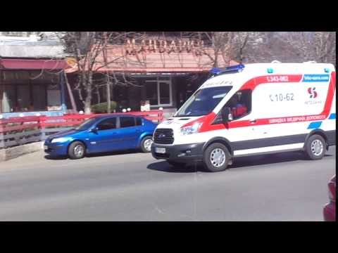 Brand New Ford Transit ambulance responding with Wail