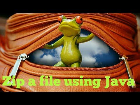 Zip-Unzip #1   How to zip a file in Java