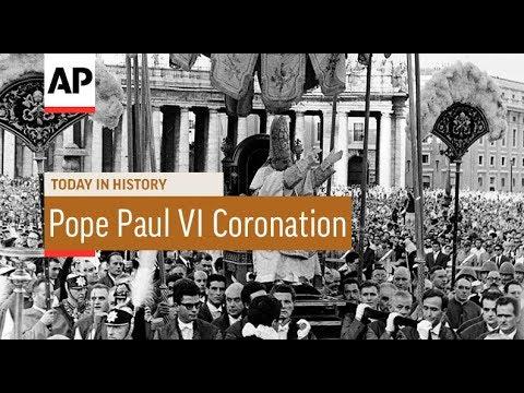 Pope Paul VI Coronation - 1963 | Today In History | 30 June 18