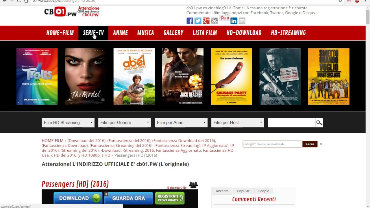 [Tutorial] Guardare e Scaricare Film e Serie TV Gratis
