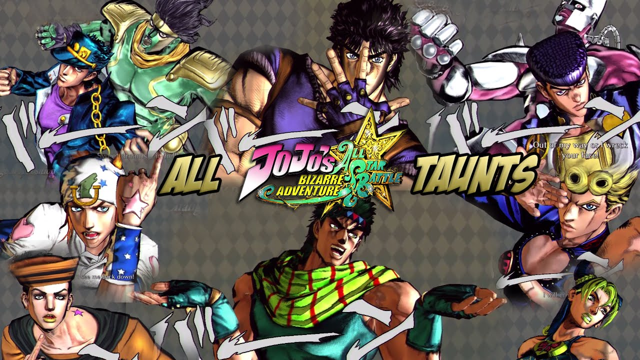 Jojos Bizarre Adventure All Star Battle All Taunts Poses