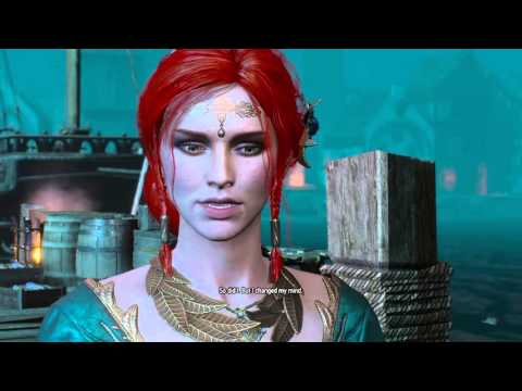 The Witcher 3 - Geralt Tells Triss I Love You