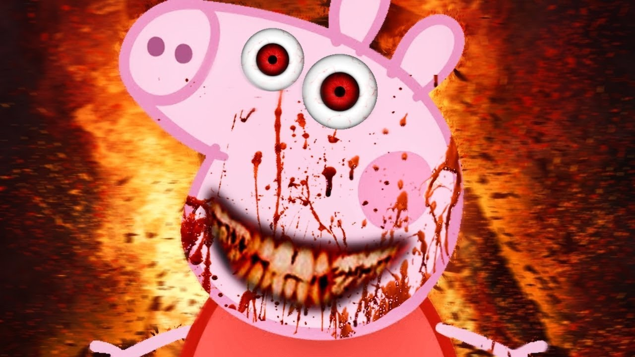 Картинки страшной свинки пеппы