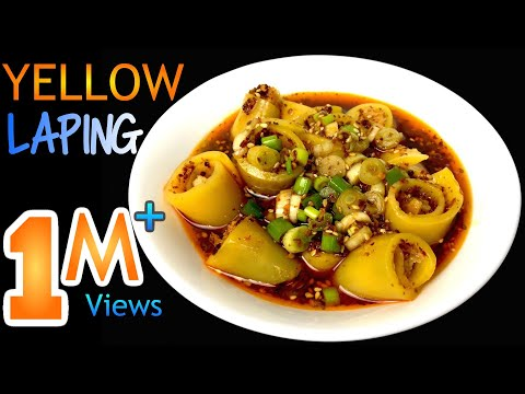 YELLOW LAPING RECIPE   How To Make LAPING   LAPHING   Nepali Street Food   Yummy Food World 🍴 96
