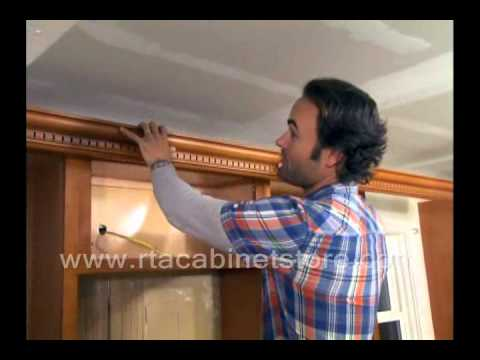 Installing Crown Molding On Rta Kitchen Cabinets Youtube