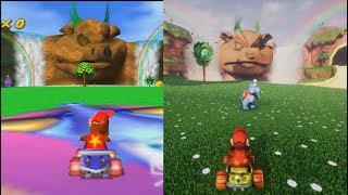 Unreal Engine 4 - Diddy Kong Racing 64 - Comparison