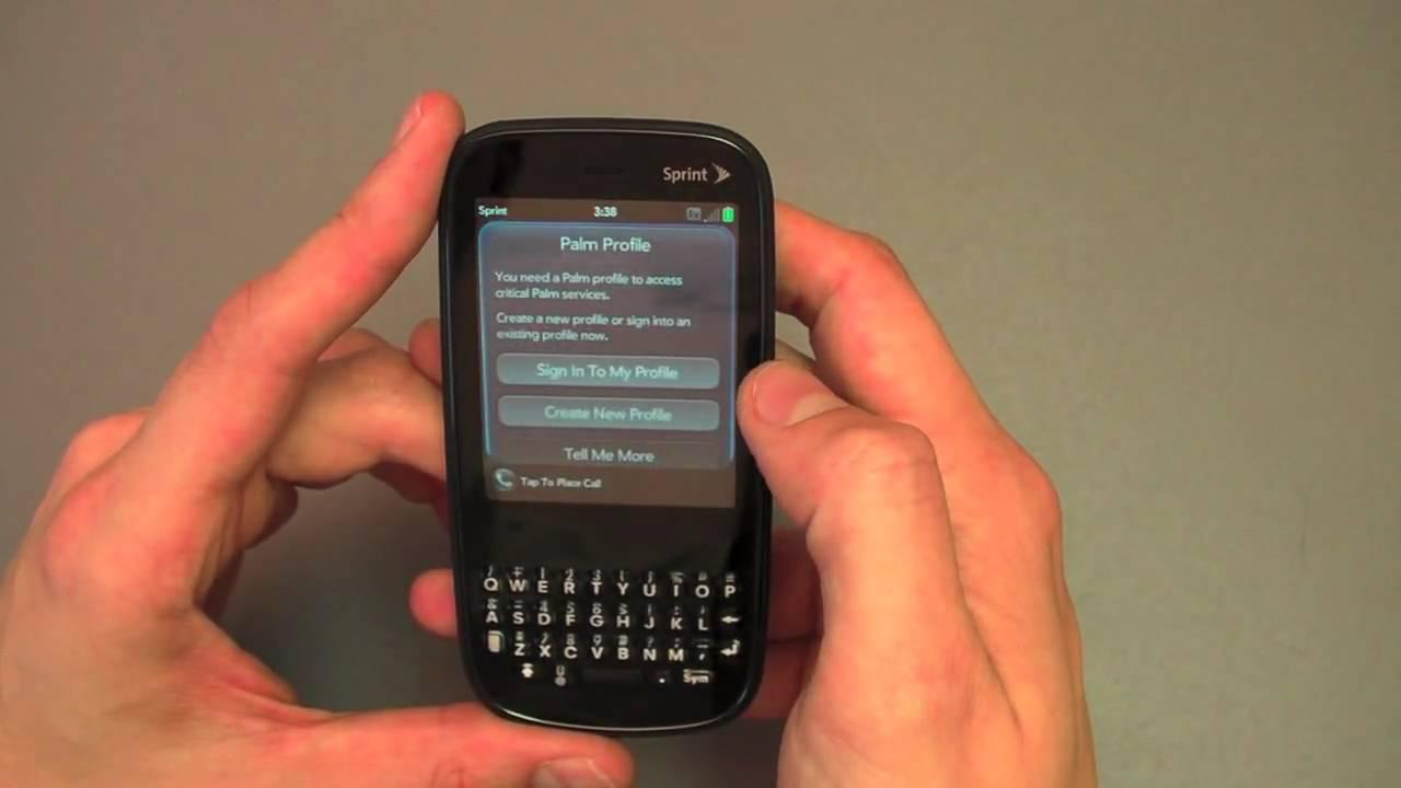Create palm profile account