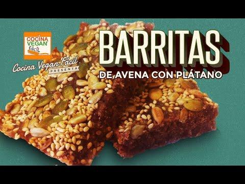 Barritas de avena con plátano - Cocina Vegan Fácil