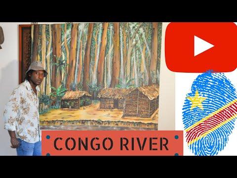 Description Explanation of Congo River Painting by Artist Pouka