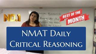 NMAT 2019: Most Important Critical Reasoning (Verbal Reasoning)