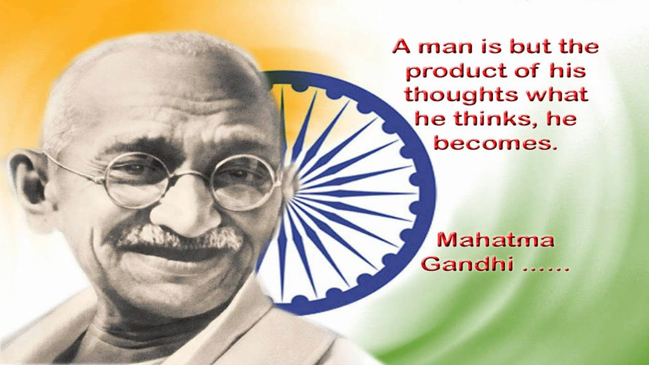 Gandhi Ji With Indian Flag Hd: MAHATMA GANDHI MUSIC, COPOSED BY AHMED SAIF FROM KING DOM