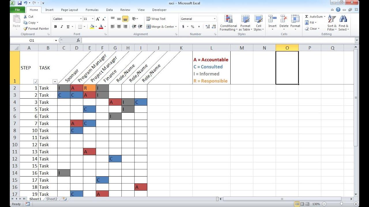 Create A Basic Raci Chart