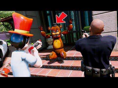 I ARREST FREDDY IN GTA 5! (GTA 5 Mods FNAF Animatronics RedHatter) thumbnail