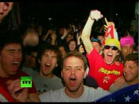Video of Bin Laden celebrations at White House, Times Sq, Ground Zero