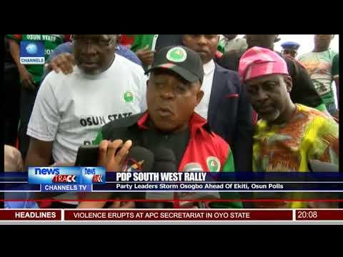 PDP Party Leaders Storm Osogbo Ahead Of Ekiti,Osun Polls