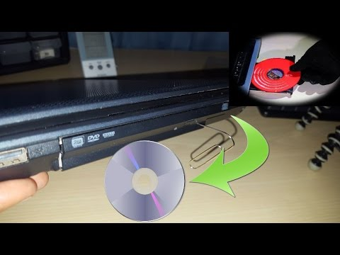 Manually remove stuck DVD from any drive