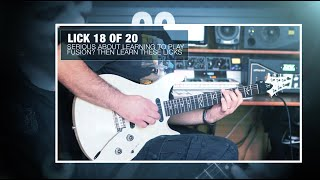 20 Minor Key Fusion Licks You Need To Learn with Ciro Manna! | JamTrackCentral.com