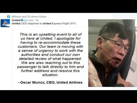 Chicago PD and United Airlines CEO Respond to Doctor Being Forced off Airplane