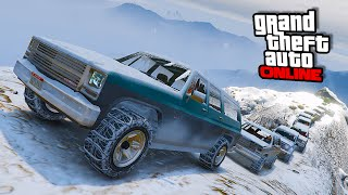 snowy off road trip    gta 5 online    pc funny moments