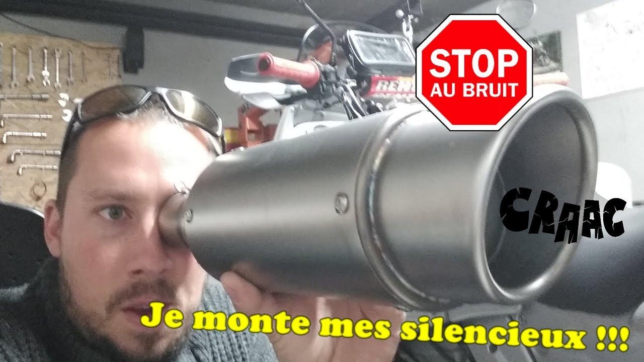Cikuso Silver Pot D/échappement de Moto Peut Ins/érer Un Silencieux Baffle DB Killer Silencer 35Mm X 140Mm