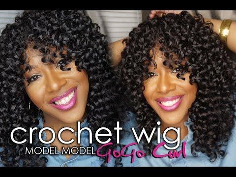 Model Model Gogo Curl Crochet Braid Diy Wig Youtube