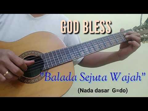 Balada Sejuta Wajah God Bless | Versi Karaoke Akustik (cover By Gitar Akustik)