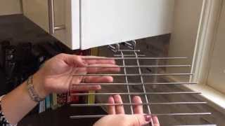 Wine Glass Drying Rack Installation