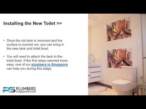 Supply and Install Toilet Bowl in Singapore