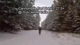 Cannondale Bad Habit test ride @ Oulu winter trails
