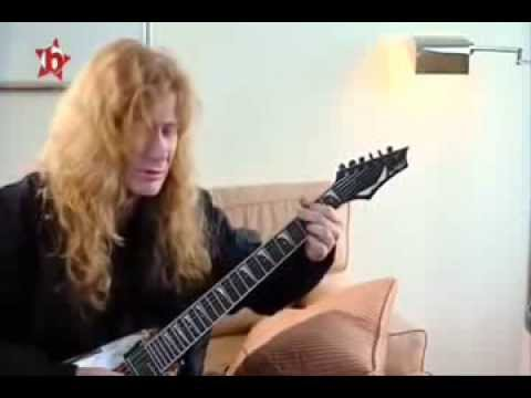 Dave Mustaine   Guitar Lesson, Holy Wars, 2009