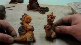 лепка дракона, урок № 9