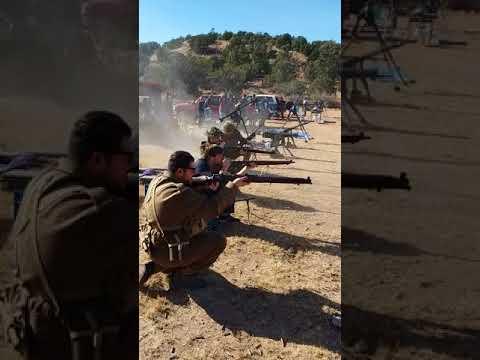 WWII Wiltshire Reenactment Regiment of Arizona Rifle Drills and Range Practice