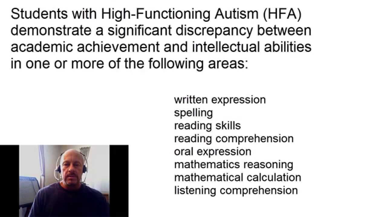 Extremely high functioning autism