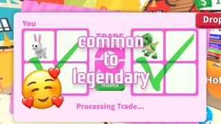 roblox: HOW I TRĄDE FROM COMMON TO LEGENDARY! *AGAIN*
