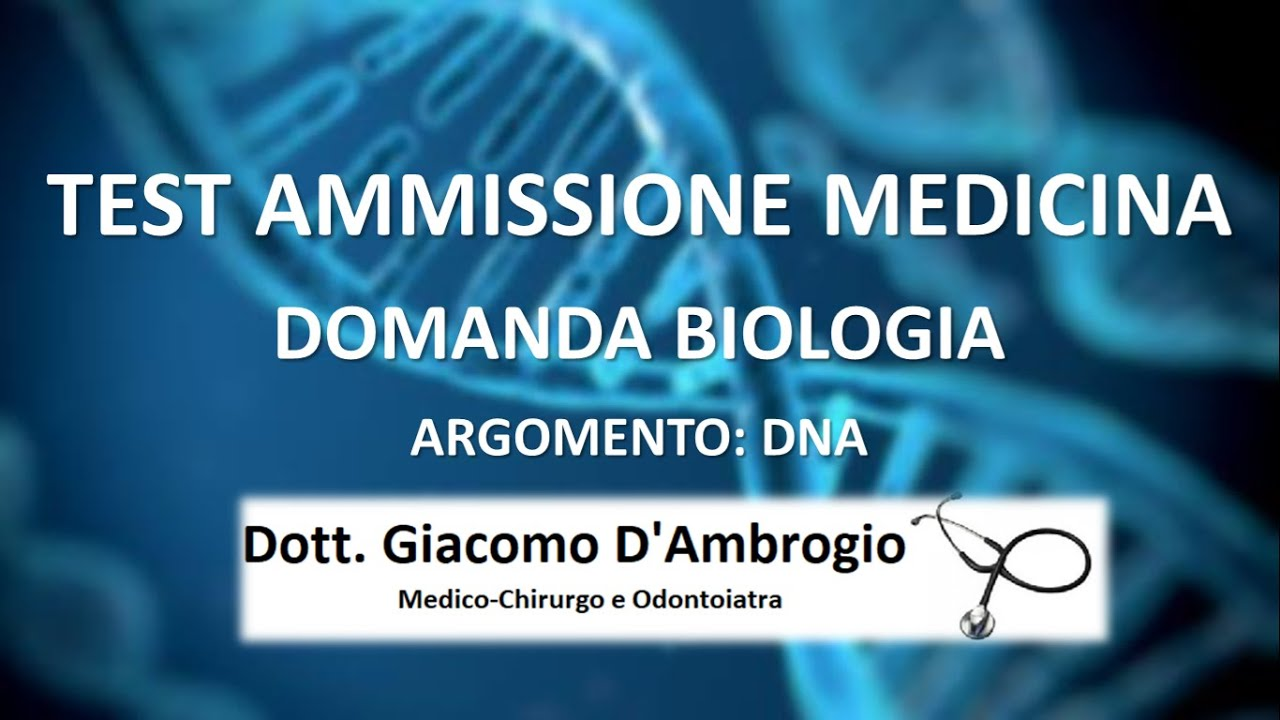 Domanda DNA Test Ammissione Medicina Università Private