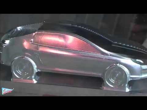 Concept car CAD CAM- CNC 5 axis machining - YouTube.flv