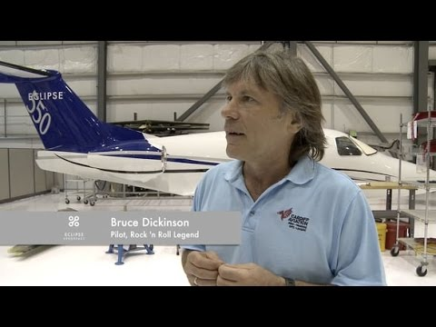 Why I Fly an Eclipse Jet: Bruce Dickinson