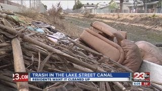 Residents want canal in Bakersfield littered with trash cleaned
