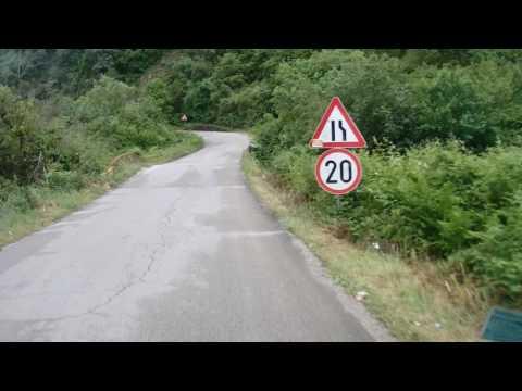 route frontière entre albanie et montenegro