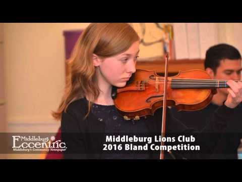 Middleburg Lions Club 2016 Bland Competition