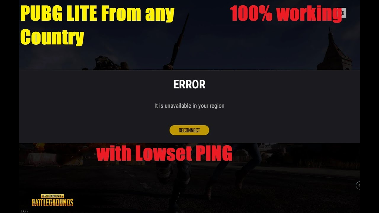 Fix Unavailable In Your Region Pubg Lite With Garena Youtube