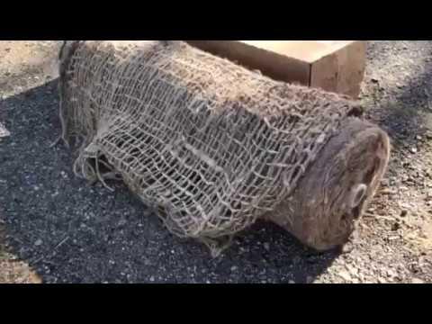 Unboxing Sandbaggy Jute Netting Erosion Control Mesh Blanket 4 X 225 Roll Youtube