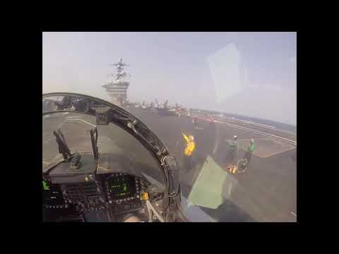 F/A-18C Taxiing On The Flight Deck Before Launch