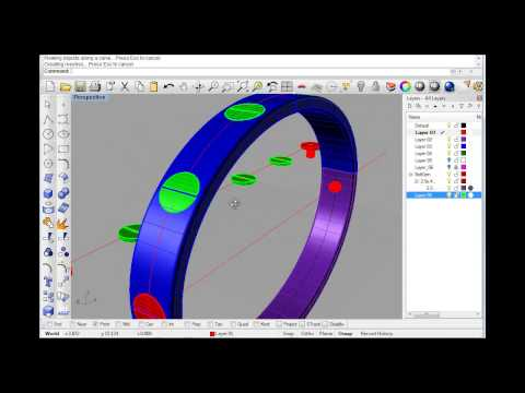 Rhino tutorial Cad jewellery/jewelry  'making a love bangle'