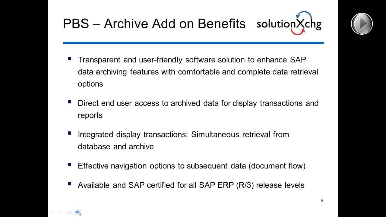 Knowledge Injection Series Business Value Data Archiving For Sap Erp Youtube