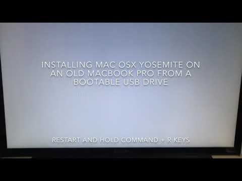 Format And Install Mac Osx Yosemite On An Old MacBook Pro From A Bootable USB Drive In English