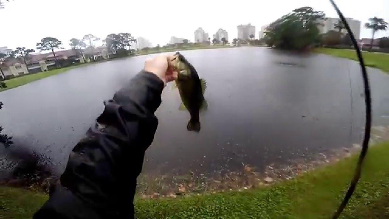 Rainy day bass fishing destin florida gopro hero 4 for Bass fishing in the rain